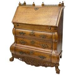 Dutch 19th Century Oak Secretaire