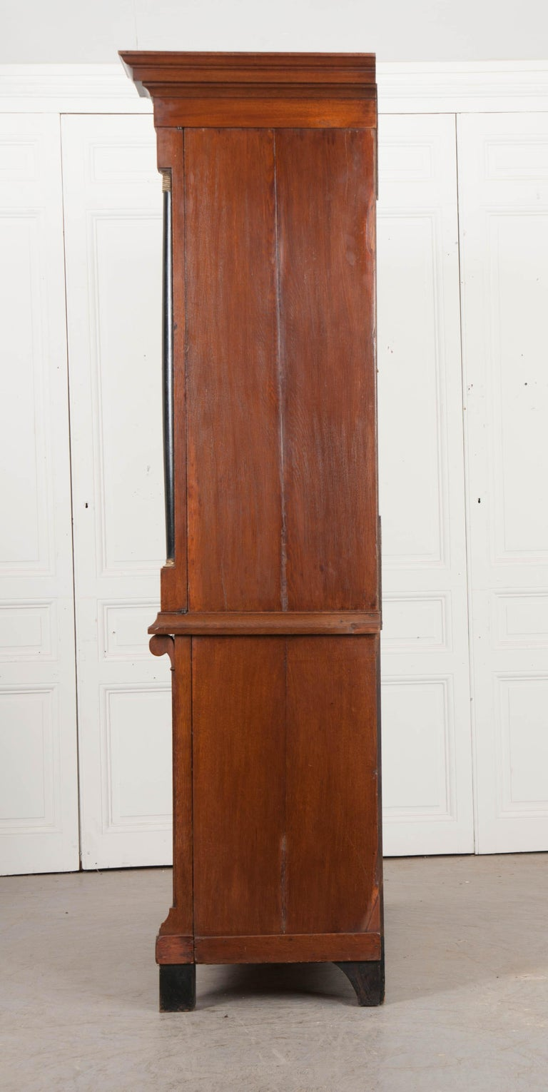 Dutch 19th Century Second Empire Linen Press/Secretary For Sale 4
