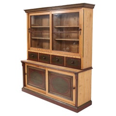 Dutch Antique Country Pine Cupboard or Buffet, 1890s