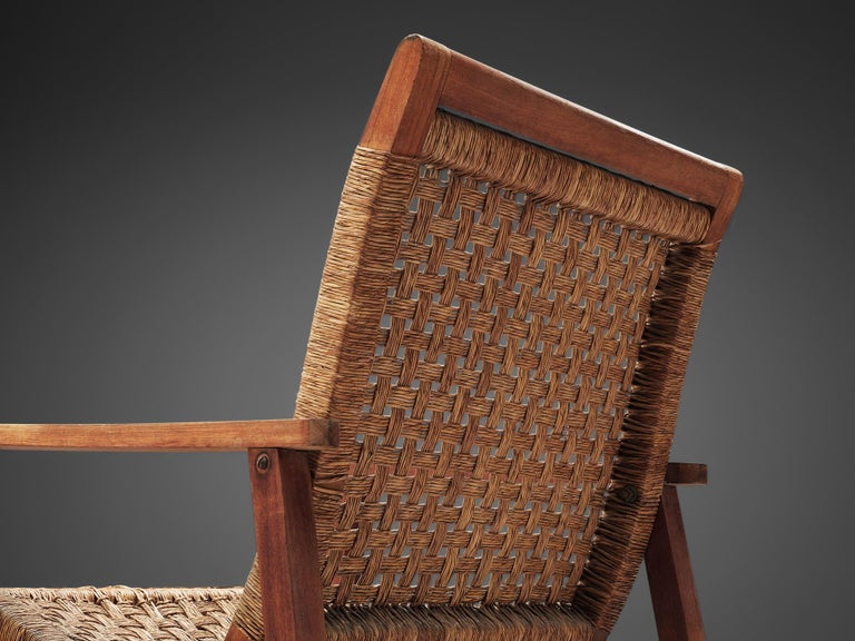 Dutch Armchair in Woven Rope and Wood 1