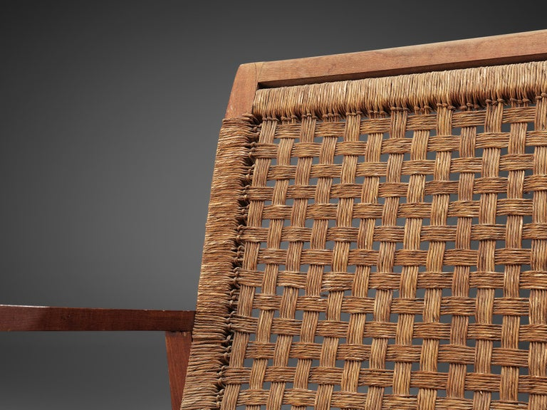 Dutch Armchair in Woven Rope and Wood 2