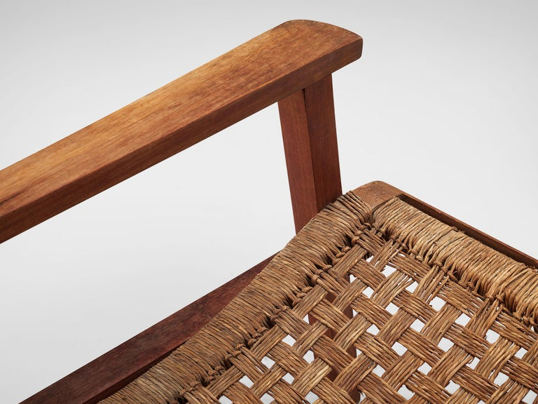 Dutch Armchair in Woven Rope and Wood 3