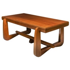 Dutch Art Deco Expressive Oak Dining Table