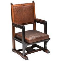 Dutch Art Nouveau Amsterdam School Armchair by Lion Cachet