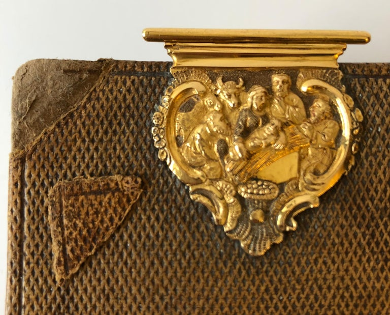 Dutch Bible with Gold Bookclasps For Sale 5