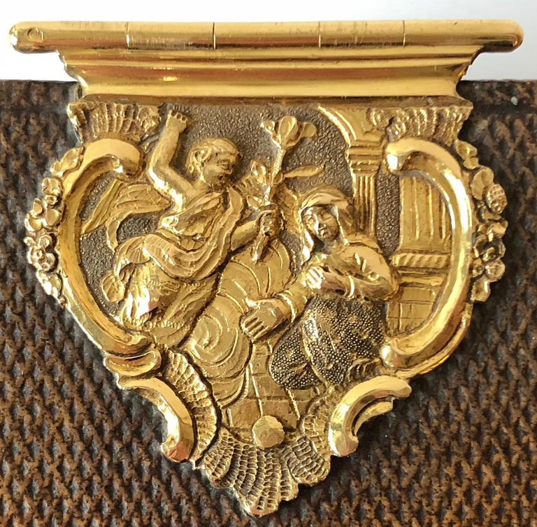 Late 18th Century Dutch Bible with Gold Bookclasps For Sale