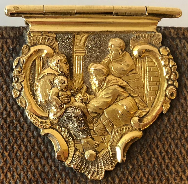 Dutch Bible with Gold Bookclasps For Sale 1