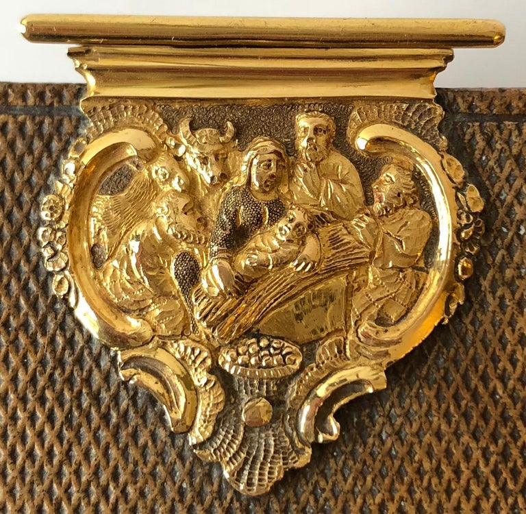 Dutch Bible with Gold Bookclasps For Sale 2