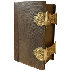 Dutch Bible with Gold Bookclasps