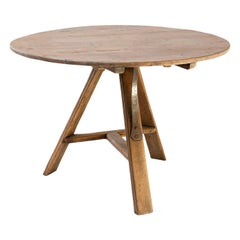 Dutch Bleached Oak Tilt-Top Table