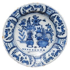 Dutch Blue and White Charger, 18th Century