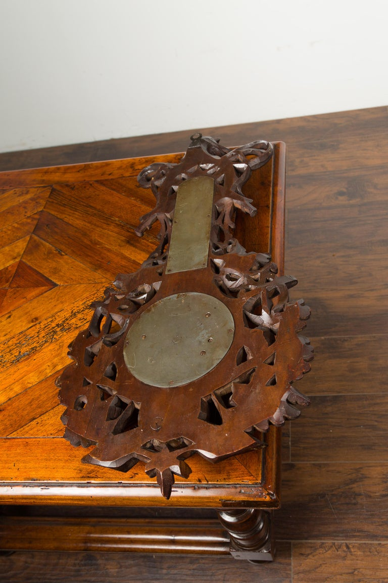 Dutch Carved Wooden Barometer with Horse Motif by Gebroeders Caminada, Rotterdam For Sale 10