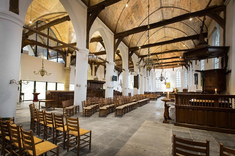 Mid-Century Modern Dutch Church Chairs from the Zuiderkerk in Enkhuizen For Sale