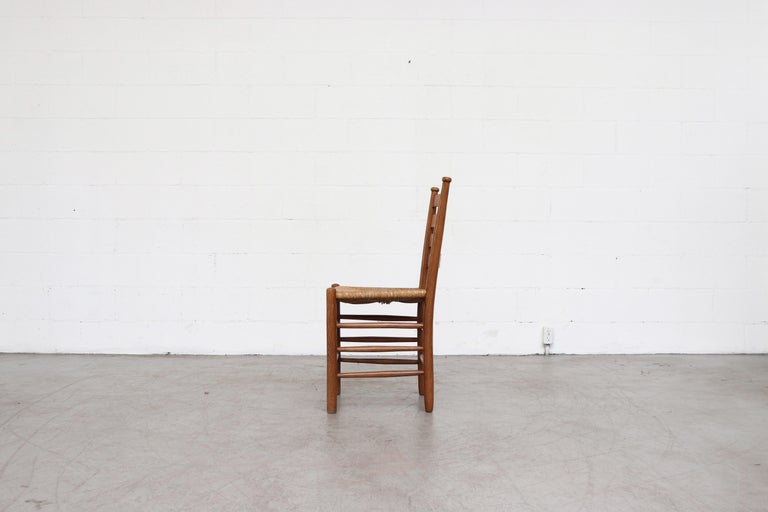 Rush Dutch Church Chairs from the Zuiderkerk in Enkhuizen For Sale