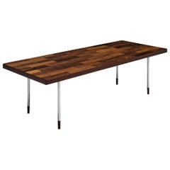 Dutch Coffee Table in Rosewood and Steel by Fristho