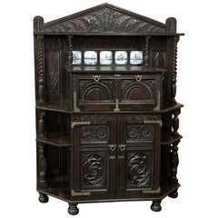 Dutch Collector's Cabinet, 18th Century Renaissance Style