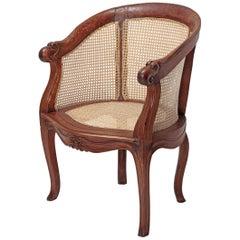 Dutch Colonial Teak Round Back Chair, Late 18th Century