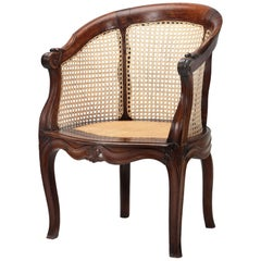Dutch Colonial Teak Round Back Chair, Late 18th Century