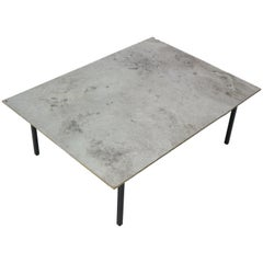 Dutch Contemporary Art Minimalistic Aluminium Coffee Table, 1990, Netherlands