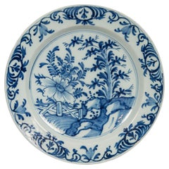 Dutch Delft Blue and White Charger Made circa 1780