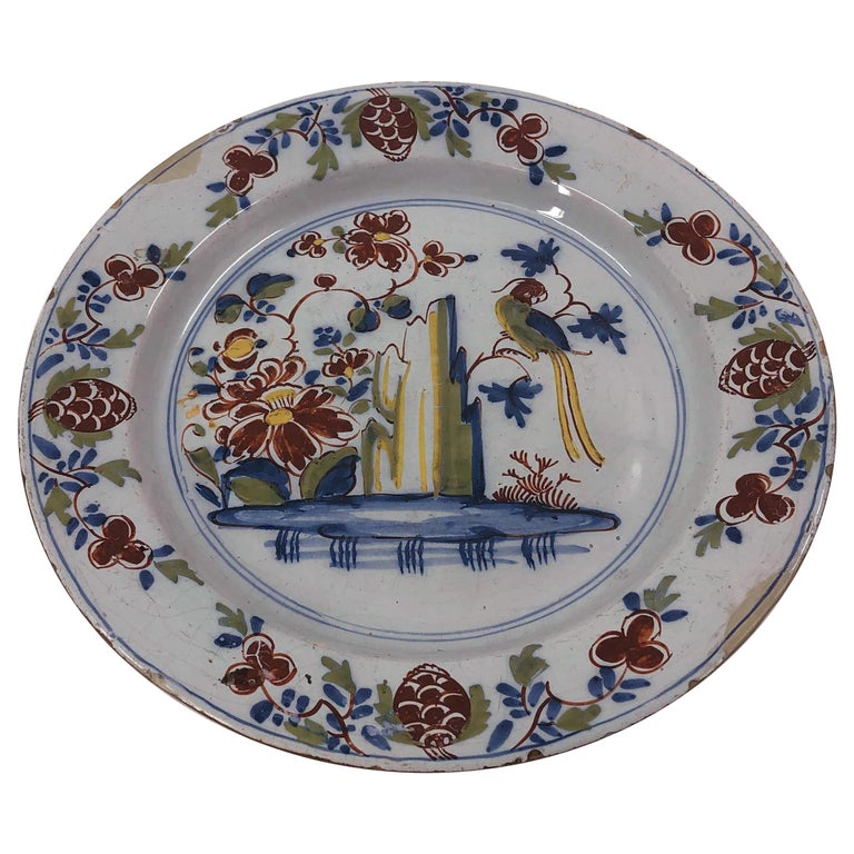 Dutch Delft Charger For Sale