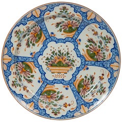 Dutch Delft Charger Made circa 1820