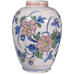 Dutch Delft Polychrome Vase, 18th Century