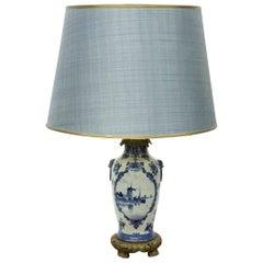 "Dutch ""Delft Porceleyne Fles"" Porcelain Table Lamp"