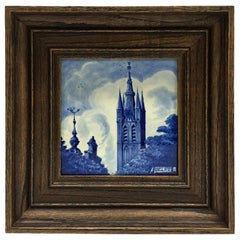 """Dutch Delft Porceleyne Fles Tile """"Delft"""", 1932"""