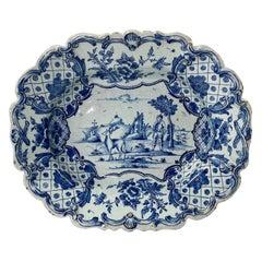 Dutch Delft Serving Dish, Van Duyn Factory, c. 1765