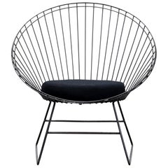 Dutch Design Black Wire Chair by C. Braakman and A. Dekker for Pastoe, 1950s