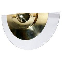 Dutch Design Dijkstra Hollywood Regency Style Wall Lamp Gold / Glass
