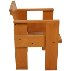 Dutch Design Gerrit Rietveld Crate Chair Numbered