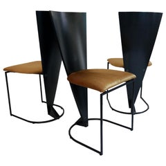 Dutch Design Harvink Zino Memphis Design Chairs Gold Black