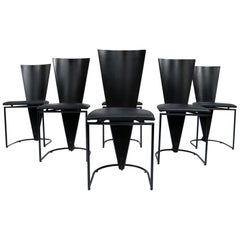 Dutch Design Harvink Zino Memphis Style Chairs Black