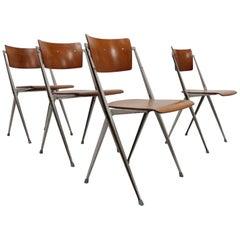 Dutch Design Set of 4 Wim Rietveld Pyramid Stacking Chairs November 1965 Ahrend