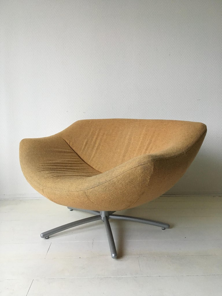 Dutch Design Yellow Swivel Chair Model Gigi By Gerard Van
