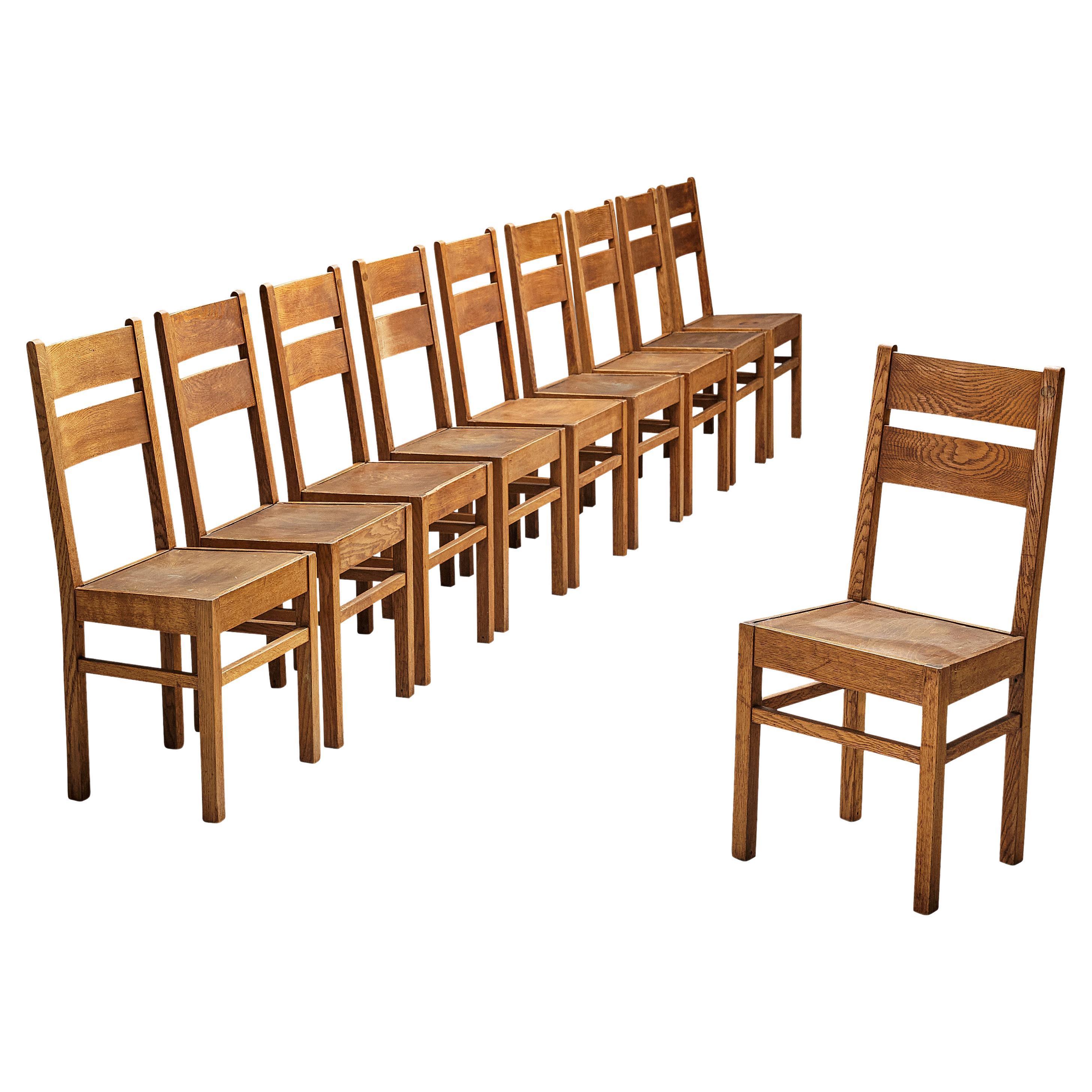 Dutch Dining Chairs in Oak