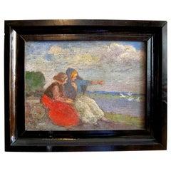 Dutch Flamen Painting on the Wood