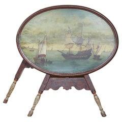 """Dutch Folk Art """"Hindeloopen"""" Table"""