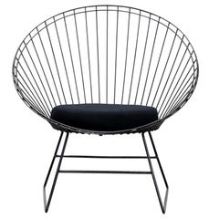 Dutch Industrial Design Wire Chair, C. Braakman and A. Dekker for Pastoe, 1950s