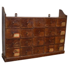 Dutch Industrial Pine Apothecary / Workshop Cabinet, circa 1920s
