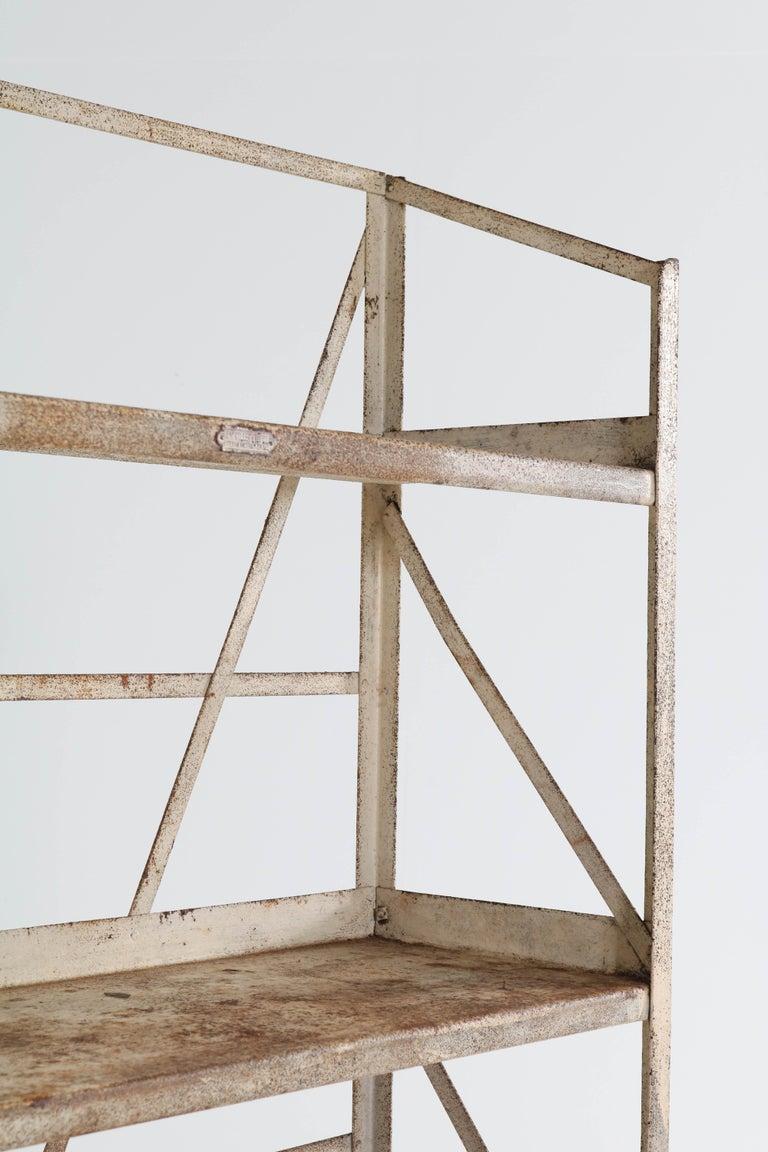 Dutch Industrial Steel Shelving Unit by Fa. Koller & van Os Amsterdam, 1930s For Sale 4