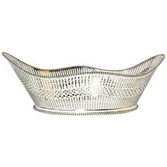 Dutch Large Silver Bread Basket, Kempen Begeer & Vos, 1921