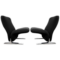 Dutch Lounge Chairs by Pierre Paulin for Artifort, Kvadrat Upholstery