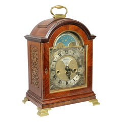 Dutch Mahogany and Brass Mounted Mantle Clock