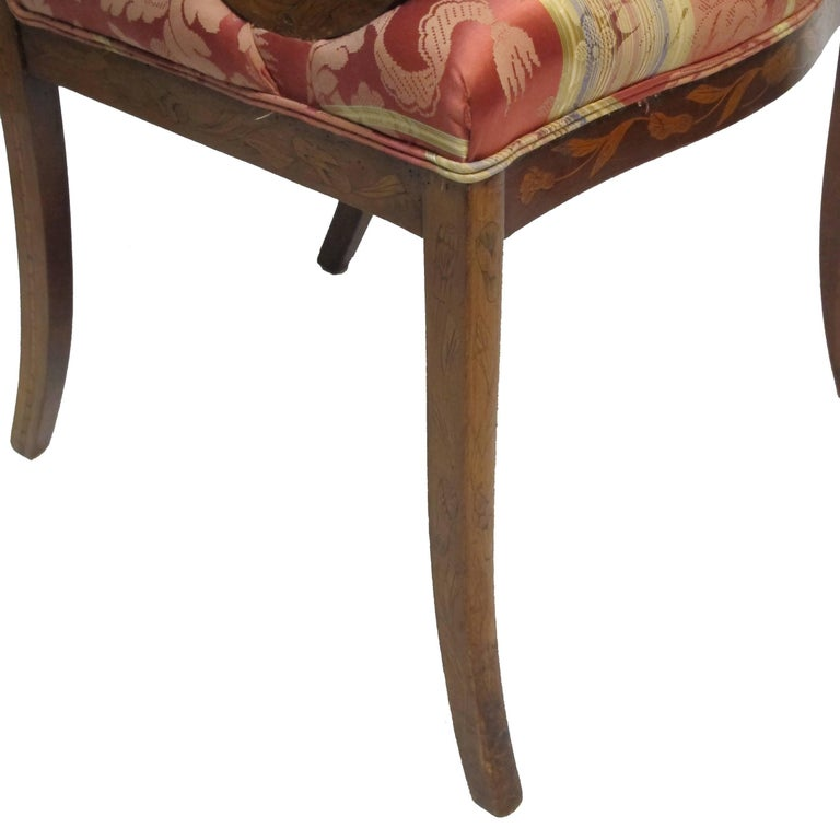 Dutch Mahogany and Satinwood Marquetry Inlay Armchair, circa 1800 For Sale 10