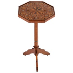 Dutch Mahogany Art Nouveau Arts & Crafts Occasional Table with Inlay, 1900s