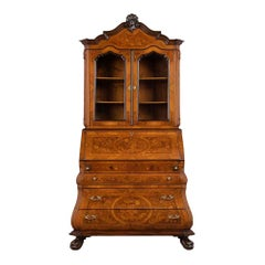 Dutch Marquetry Bookcase