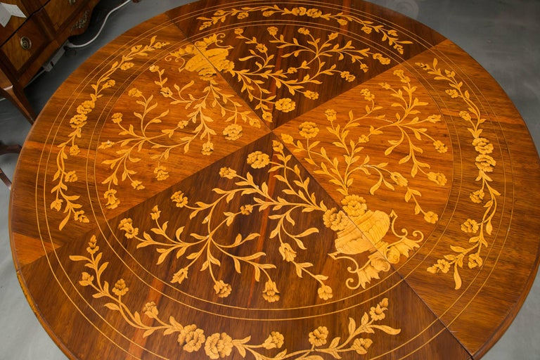 Inlay Dutch Marquetry Centre Table For Sale